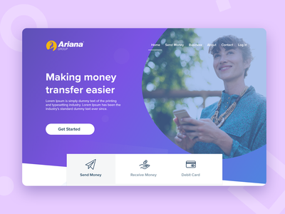 Ariana Landing Page