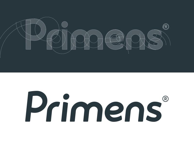 Primens shopping wordmark typography type branding brand logo