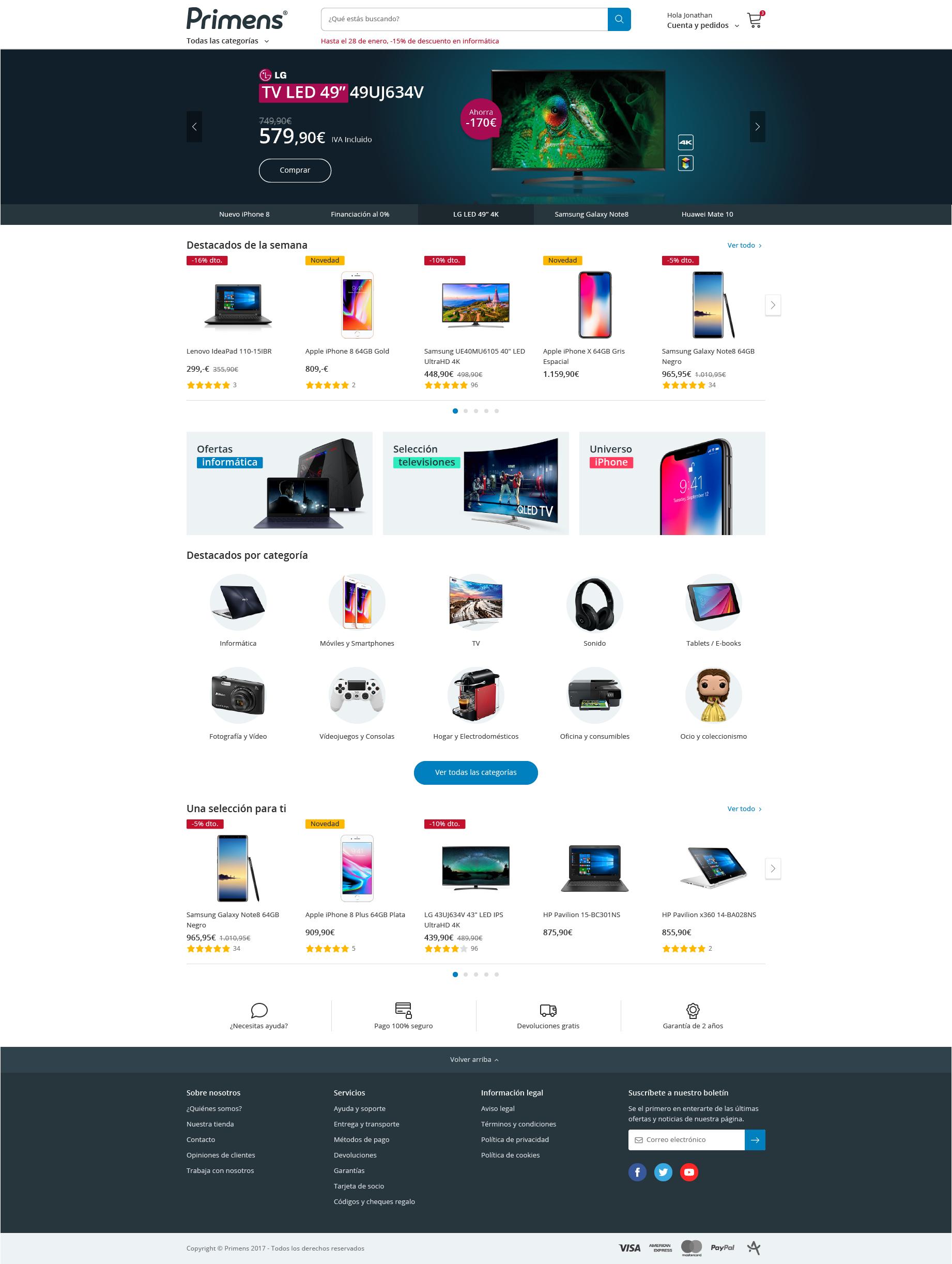 Primens desktop home