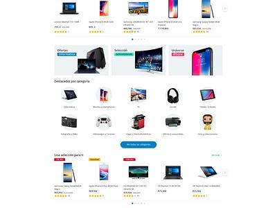 Primens e-Commerce Homepage shopping responsive homepage webdesign web ux ui interface e-commerce