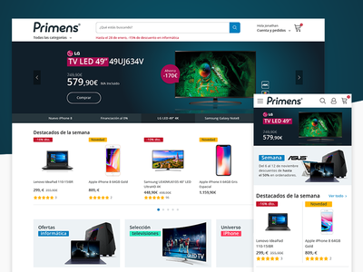 Primens e-Commerce Homepage