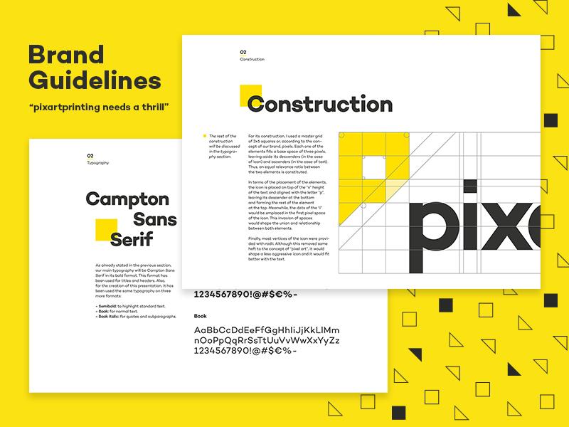 Pixartprinting Guidelines pixel wordmark typography logotype logo branding brand