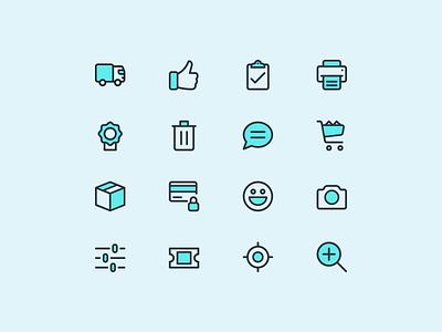 Stroked Iconography e-commerce stroke flat icons icon ux ui shopping iconography