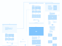 Portfolio wireflow desktop