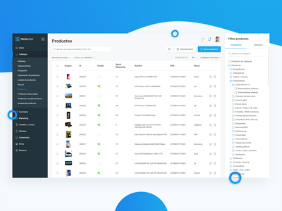 Products Dashboard (e-Commerce) user experience e-commerce user interface ux ui back office dashboard