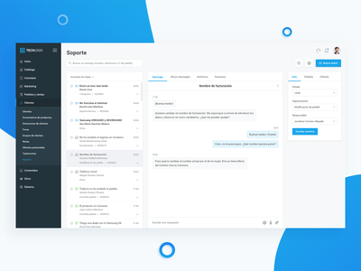 Cutomer support Dashboard (e-Commerce) help support dashboard back office ui ux user interface e-commerce user experience