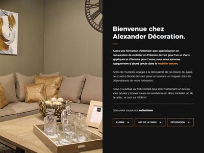 Alexander V2 - About page meubles peinture magasin design décoration