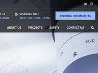 Construction company website WIP