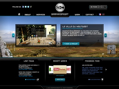 Graphikconcept v.7 graphikconcept v7 exploration web design flash nature voyage