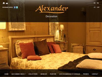 Alexander design décoration meubles mobilier jquery html5 css3