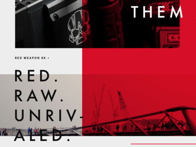 RED. Raw. Unrivaled. tampa florida harbrco red camera layout typography web design ui brand design