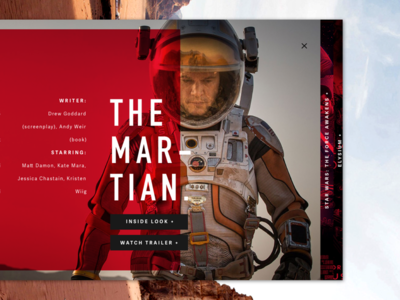 The Martian. design brand ui web design typography layout red camera harbrco florida tampa