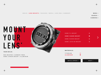 Mount Up. tampa florida harbrco red camera layout typography web design ui brand design