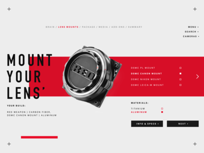 Mount Up. tampa florida harbrco red camera layout typography web design ui brand design