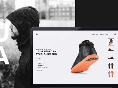 UA Revealed - 01 photography sports apparel design under armour branding ui ux harbrco