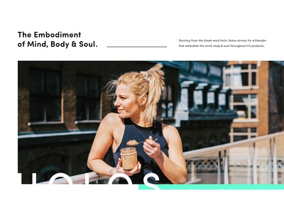 HOLOS - 001 harbrco ux ui branding moodboard design health product photography lifestyle