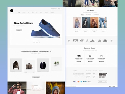 24/7 emarket ecommerce website landing page