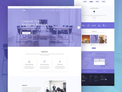 Zombiz Business PSD Template