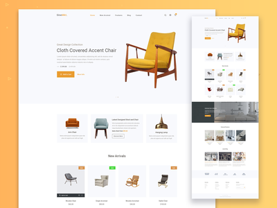 Furn - Free Furniture Ecommerce Template free website template one page ecommerce furniture