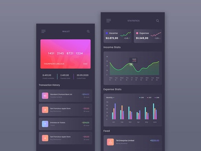 Wallet Management Mobile App UI