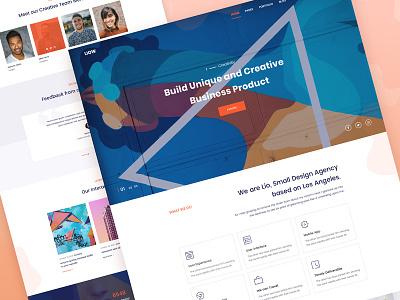 Agency Landing Page Exploration design website agency landing page exploration ui