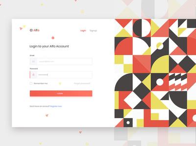 Login Screen exploration website web app login form shape color exploration ui trend pattern signin login