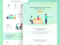 Consultancy agency landing page exploration