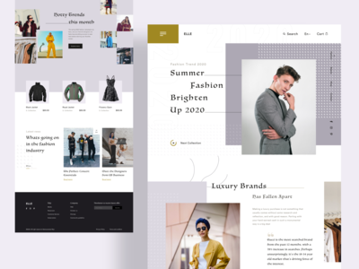Fashion landing page exploration user experience user interface fashion task typogaphy ecommerce design ux minimal landing page exploration website
