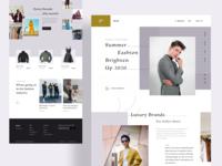 Fashion landing page exploration