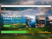 Earth day conceptual web design.