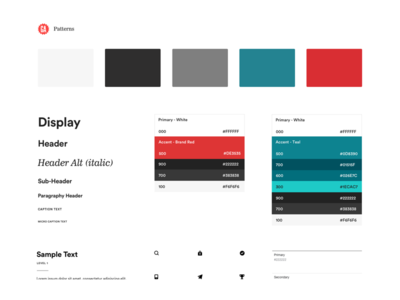 GA Patterns - Sample Kit style guide pattern library general assembly atomic design abstractapp