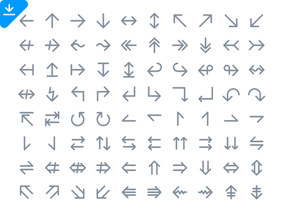 112 Arrow Icons freebie line icon unicode download arrow icons