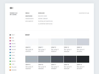 Open color website ui scheme swatches web colors color opencolor