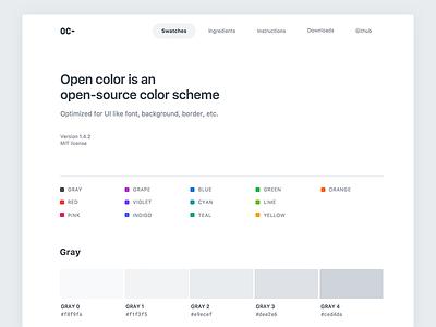 Open Color Website renewal web ui swatches scheme opencolor colors color