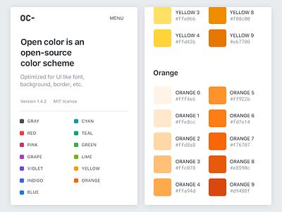 Open Color Web Mobile web ui swatches scheme opencolor colors color