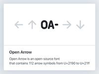 Open Arrow open graph image icon symbol open font arrow opengraph og