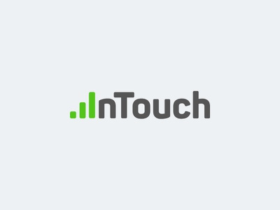 Логотип для компании InTouch freelance creative digital designer identity новыйлоготип ребрендинг брендинг дизайн дизайнер фирменныйстиль логотип