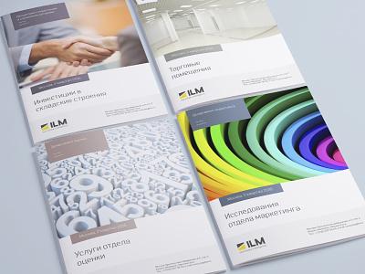 Серия буклетов для компании ILM freelance creative digital designer identity новыйлоготип ребрендинг брендинг дизайн дизайнер фирменныйстиль логотип