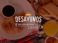 Desayunos (Breakfast banner)