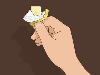 White Chocolate illustration paper finger hand chocolate