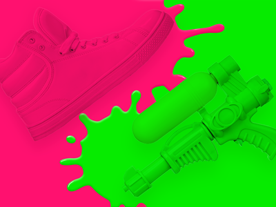 Pink and Green graphic