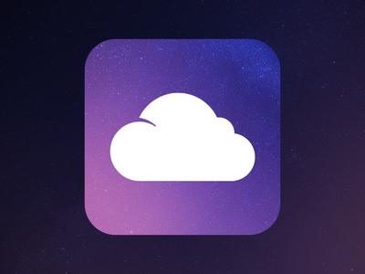 Night Cloud flat vector graphic app icons night cloud icon illustration