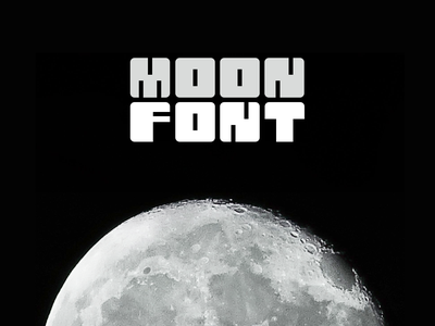 Moon Font graphic moon typogaphy space font