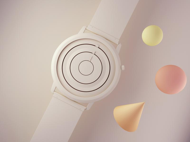 Analog Watch product design industrial design lowpoly polygons watch watchface b3d lowpolygon lowpolyart 3d illustration blender