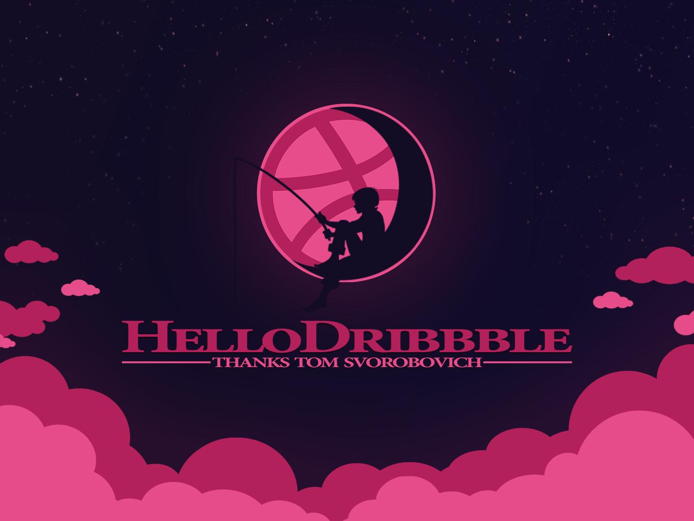 Hello Dribbble illustration design