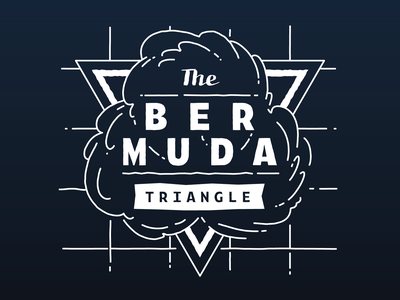 Bermuda Triangle Vinyl Decal illustration vector illustration typogaphy vector lettering