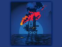 Oil Rig Sketch