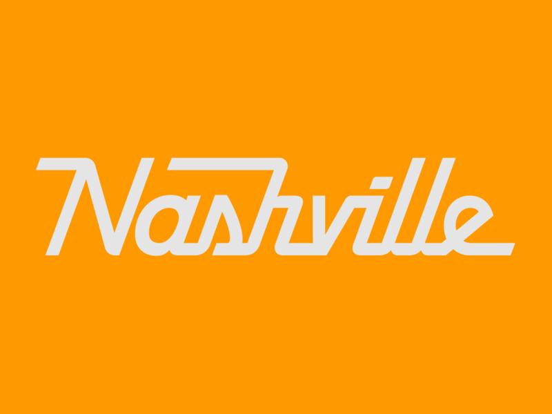 Nashville color illustration typography lettering illustrator vector type graphic design flat design