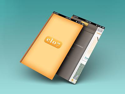 iOS Buy/Sell App - Sneak Preview ios user interface branding user experience slide-out nav splash screen portuguese