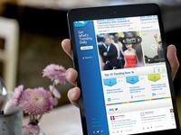 Responsive Site Design - iPad View